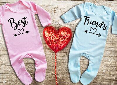 Best Friends Twin rompersuit sleepsuit bodysuit Set For twin boy and