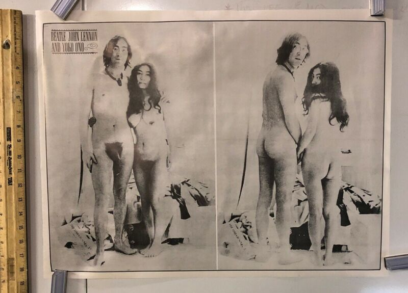Vintage Music Poster- John Lennon And Yoko Ono Nude In Bedroom Beatles Rock