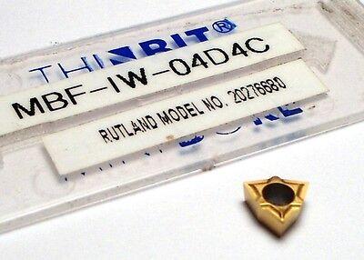 Thinbit Carbide Minibore Insert Wcgt .004 Radius D4 Tin 1 Pcs