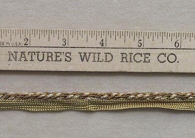 Braided Cord Trim Shades of Gold & White 88