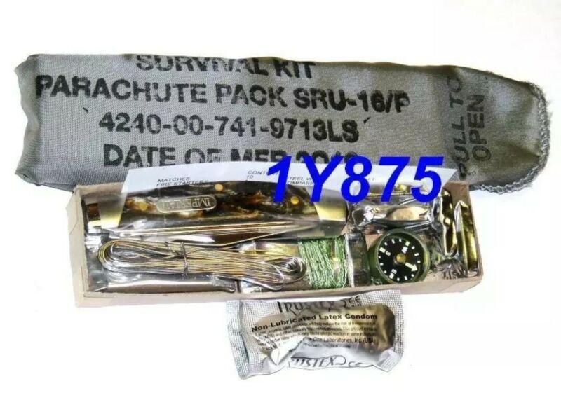 4240-00-741-9713 MILITARY SURVIVAL KIT, PARACHUTE PACK SRU-16/P, MIL-S-27447A