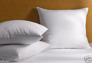 Duck Feather Continental Euro Square Pillows Pair 65cmx65cm (26