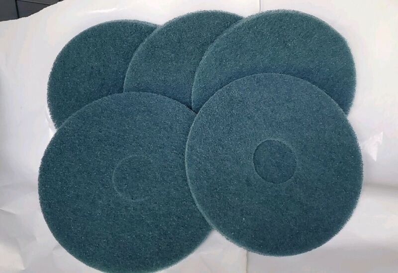 """5 - 14"""" Blue Cleaning Pads"""