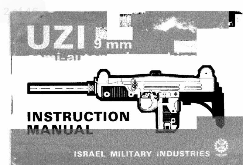 UZI 9mm Instruction Manual