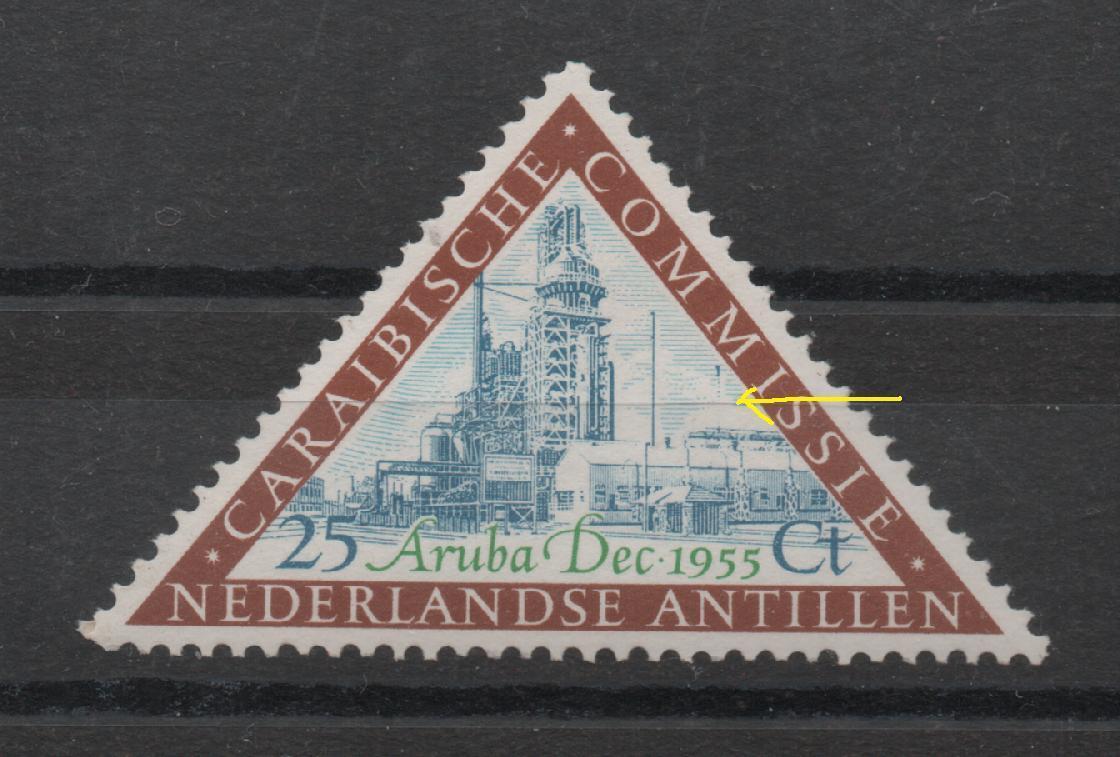 PL6 Ned.Antillen 256P ongebruikt met plakker
