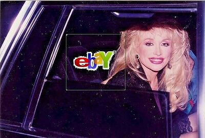 "DOLLY PARTON sitting in limo  - 1993 - Original 8 x10"" photo"