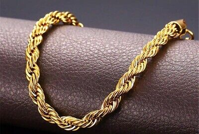 24k Real Solid Gold Filled Necklace / Chain