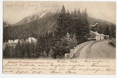 Gasthof Fernpaß, Luis Föger, Nassereith, Biberwier, 1904 Lermoos nach Plauen