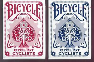 2 DECKS Bicycle Cyclist playing cards RARE PRINTING ERROR!