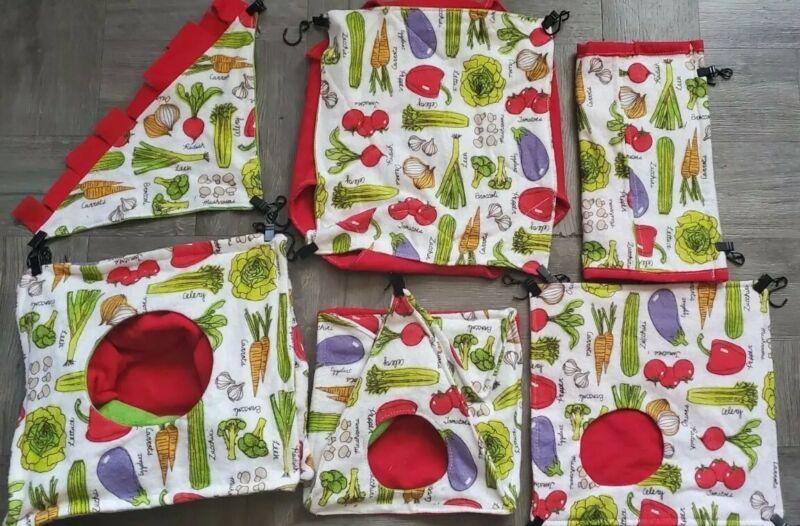 Rat Hammock 6 Piece Set - Veggies