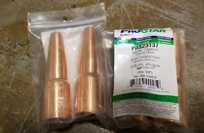 4 Prostar. Praxair Prs23t37 Tweco Style 38 Tapered Nozzles