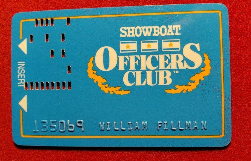 Showboat Casino Officers Club - Atlantic City hole punch slot card cc1352