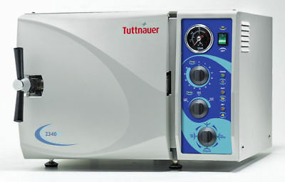 New Tuttnauer 2340m Manual Steam Autoclave Dental Medical Sterilizer