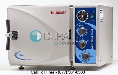 Tuttnauer 2340m Manual Autoclave Steam Sterilizer W1 Year Warranty Brand New