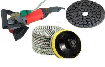 Wet Grinder Polisher Concrete Sanding Stone Granite 5 Polishing 9 Pad 2 Buffer