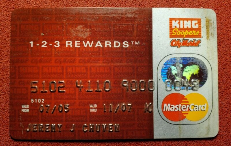 King Soopers City Market Mastercard exp 2007 ♡free ship♡cc1537♡