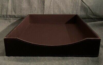 See Jane Work Executive Faux Leather Letter Paper Desk Office Tray Organizer