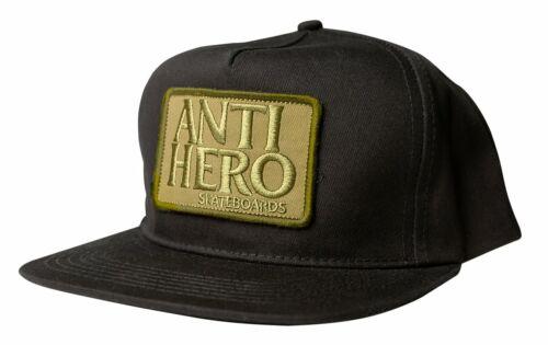 ANTIHERO Skateboards Reserve Patch Black / Olive Snapback Hat