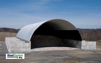 Steel 51x100x17 Quonset Barn Farm Hay Grain Storage Livestock Horse Building Kit