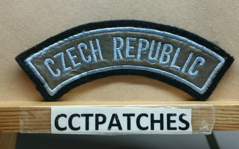 CZECH REPUBLIC TAB ROCKER (POLICE) SHOULDER PATCH