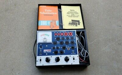 Vintage Eico 635 Portable Tube Tester W Manual Clean Powers Up