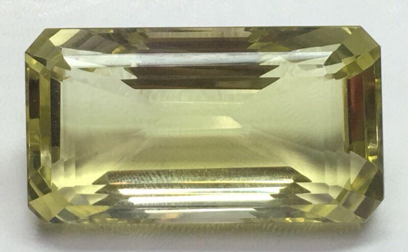 111.00ct Emerald Cut Natural Citrine Gemstone 38mm X 21mm X 17mm C-7