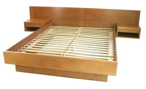 Queen Teak Danish Modern Platform Bed Nightstands By Jesper MCM Mid Century 1950