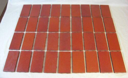 "36 Vintage Franciscan Interpace Terra Cotta Subway Tiles 6"" x 3"" Unused NOS"