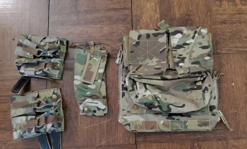 Crye Precision AVS Rear Zip Pannel BLCZP1 With Mbtir And Banger Pouches
