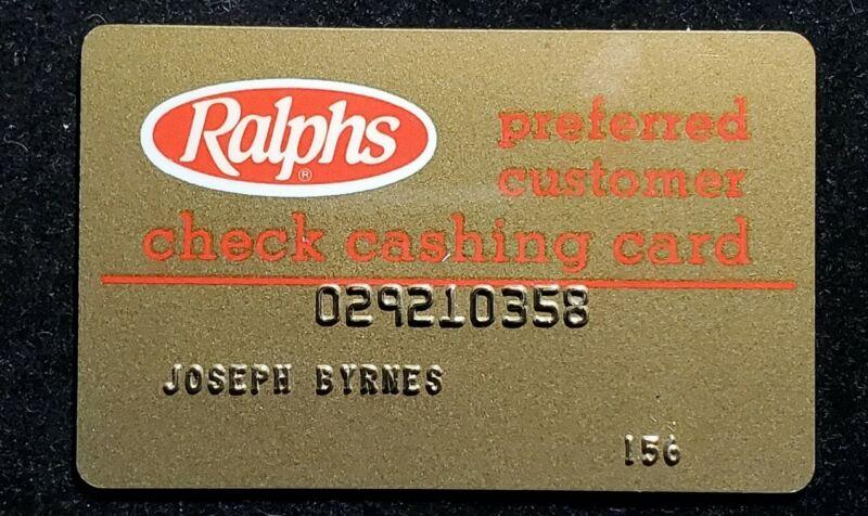 Ralphs Preferred customer check cashing card ♡Free Shipping♡cc829♡