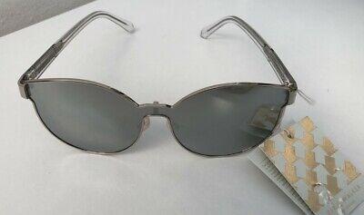 KAREN WALKER 'Star Sailor' Designer Silver Mirrored Sunglasses BNWT *SEE PHOTOS*
