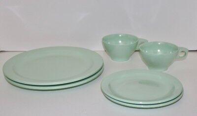 Boonton set of six dishes seafoam green melamine Melmac vintage