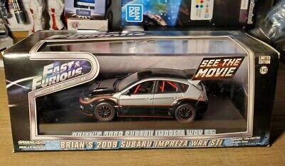 GreenLight Paul Walker Brian's 2009 Subaru Impreza WRX STi Fast & Furious #86220