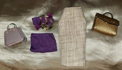 "Fashion Royalty Anais McKnight Shirt Fit 16"" ~ Doll Michael Kors Handbag Fob LOT"