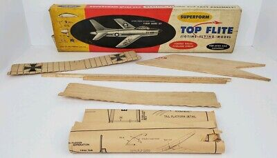 Vintage Top Flite F-86D Sabre Jet Model Airplane Kit Box Misc Parts Plans for sale  Williamsport