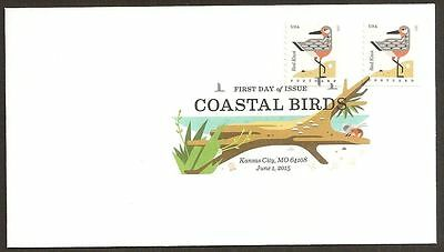 US 4997 Coastal Birds Red Knot (coil) DCP FDC 2015