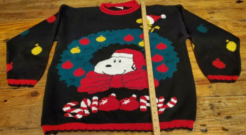 Snoopy & Friends - Woodstock Peanuts Ugly Christmas Sweater Pullover M/L 90