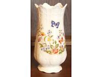 AYNSLEY Fine Bone China, Regency Vase. Cottage Garden Pattern, 158mm tall