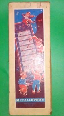 altes glockenspiel Musik instrument mit originaler Verpackung Xylophone u.s zone