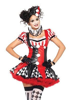 Harlequin Clown Costume, Leg Avenue, Circus, Halloween, Scary, - Sexy Scary Clown