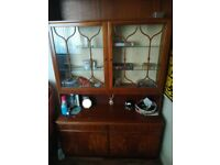 Two Display Cabinet and Cupboards