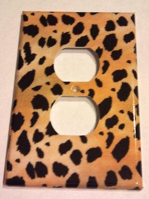 Leopard Cheetah Animal Print Outlet Plate Cover Bedroom Bathroom Wall Decor](Animal Print Plates)