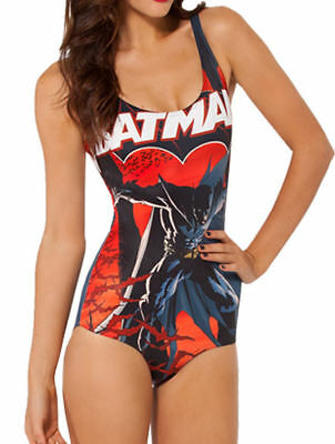 Sexy Batman 1 Piece Bodysuit costume Cartoon comic Halloween Swimwear O/S - Batman Cartoon Kostüm