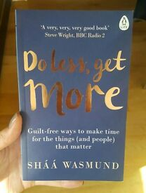 Do Less, get more * Sháá Wasmund * Brand new book