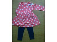 New With Tags. Dress & Leggings Set, 2-3 Years.