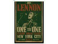 John Lennon One to One poster art