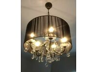 5 bulb crystal style chandelier