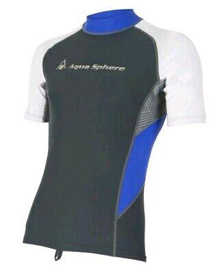 Uv Rash Shirt (Aqua Sphere BLAZE Rash Guard Herren UV-Shirt NEU Gr. M)
