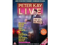 Peter Kay Tickets x2 Liverpool Echo Arena , Friday 29th March 2019 Block B (best seats)