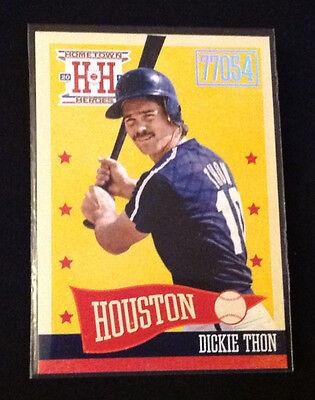 2013 Hometown Heroes Zip Code #256 DICKIE THON Astros Platinum Foil 1 Per Box ()